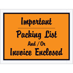 """Packing List - Invoice Enclosed"" Envelopes"