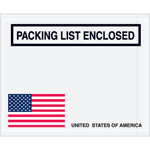 "U.S.A. ""Packing List Enclosed"" Envelopes"