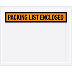"4 1/2"" x 5 1/2"" ""Packing List Enclosed"" Envelopes"