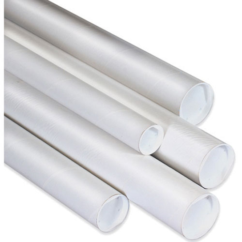 2 x 9 white mailing tubes with caps. Black Bedroom Furniture Sets. Home Design Ideas
