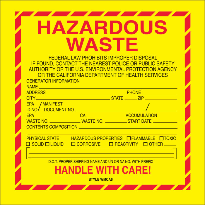free printable hazardous waste signs Success