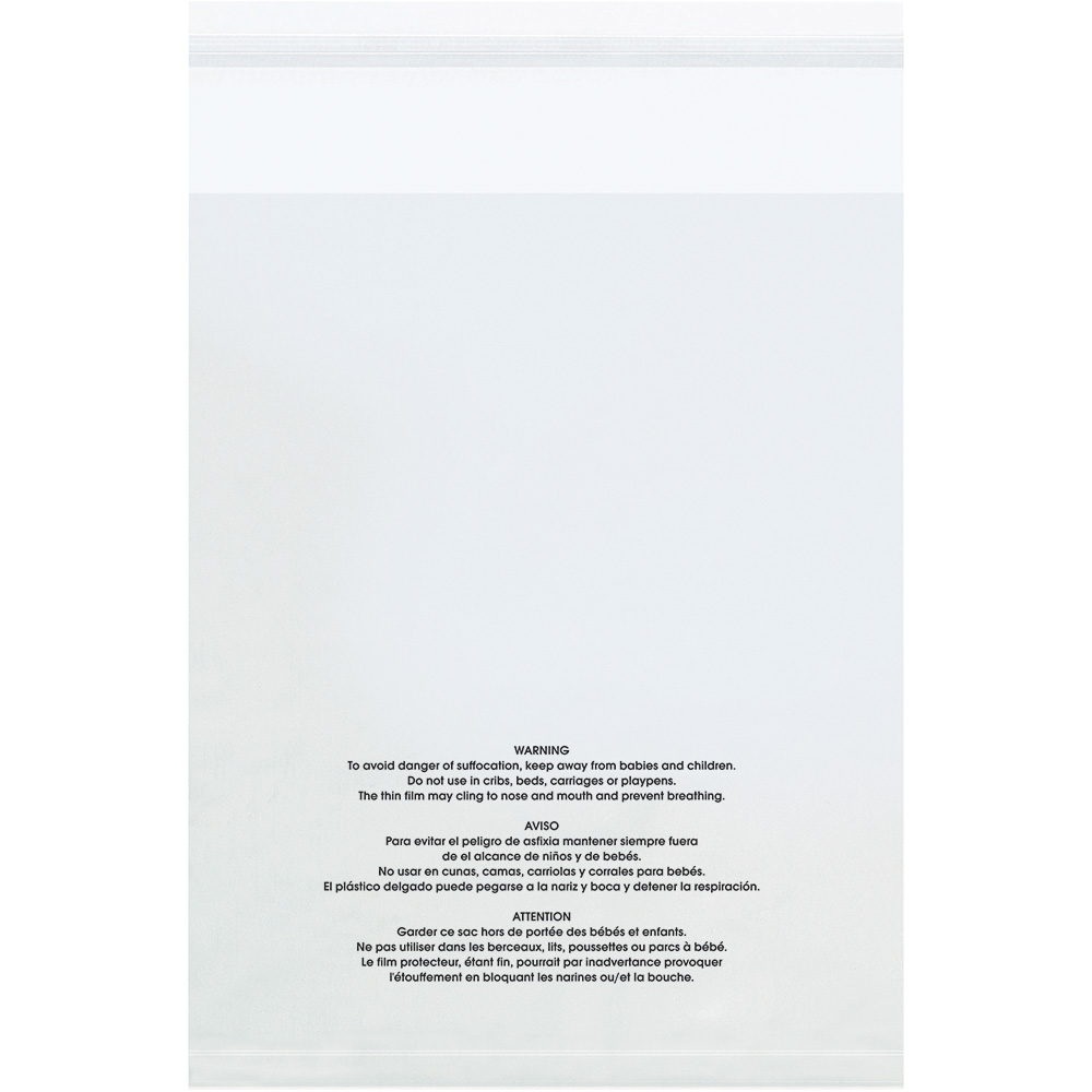 18 X 24 1 5 Mil Resealable Suffocation Warning Poly Bags