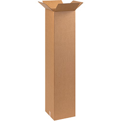 "10"" x 10"" x 48"" Tall Corrugated Boxes"