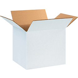 "12 x 8 x 8"" White Corrugated Boxes"