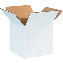 "12"" x 12"" x 12"" White Corrugated Boxes"