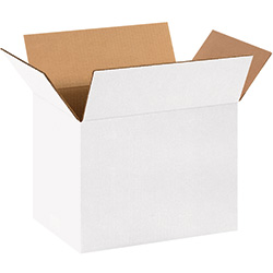 "14 x 10 x 10"" White Corrugated Boxes"