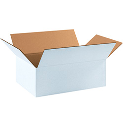 "17 1/4"" x 11 1/4"" x 6"" White Corrugated Boxes"