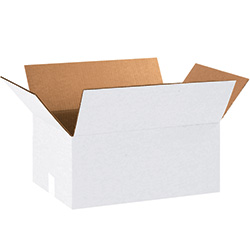"18 x 12 x 8"" White Corrugated Boxes"