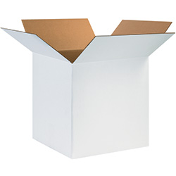 "24"" x 24"" x 24"" White Corrugated Boxes"