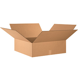 "24"" x 24"" x 8"" Flat Corrugated Boxes"