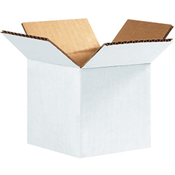"4"" x 4"" x 4"" White Corrugated Boxes"