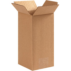 "4"" x 4"" x 8"" Tall Corrugated Boxes"