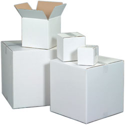 "8"" x 6"" x 4"" White Corrugated Boxes"