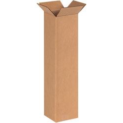"6"" x 6"" x 24"" Tall Corrugated Boxes"
