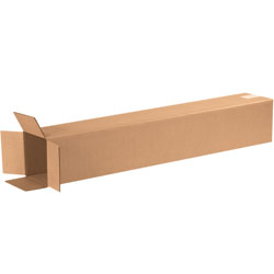 "6"" x 6"" x 36"" Tall Corrugated Boxes"