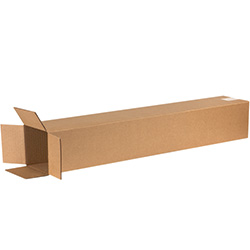 "6"" x 6"" x 40"" Tall Corrugated Boxes"