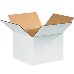 "8"" x 8"" x 6"" White Corrugated Boxes"