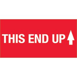 "2"" x 4"" - ""This End Up"" (High Gloss) Labels"