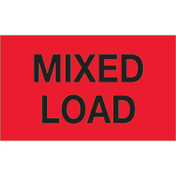 "3"" x 5"" - ""Mixed Load"" (Fluorescent Red) Labels"
