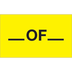 "3"" x 5"" - ""__ Of __"" (Fluorescent Yellow) Labels"