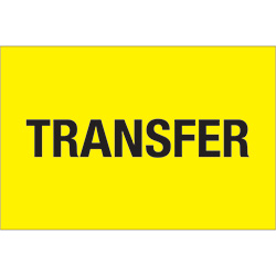 "2"" x 3"" - ""Transfer"" (Fluorescent Yellow) Labels"