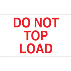 "3"" x 5"" - ""Do Not Top Load"" Labels"