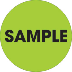 "2"" Circle - ""Sample"" Fluorescent Green Labels"