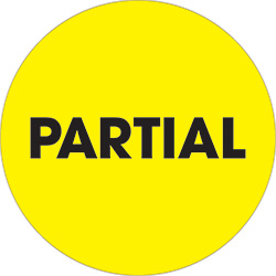 "2"" Circle - ""Partial"" Fluorescent Yellow Labels"