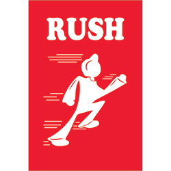 "4"" x 6"" - ""Rush"" Labels"