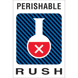 "4"" x 6"" - ""Perishable Rush"" Labels"
