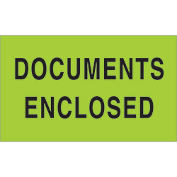 "3"" x 5"" - ""Documents Enclosed"" Labels"