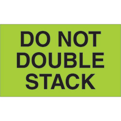 "3"" x 5"" - ""Do Not Double Stack"" Labels"