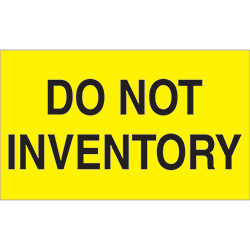 "3"" x 5"" - ""Do Not Inventory"" Labels"