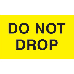"3"" x 5"" - ""Do Not Drop"" Labels"