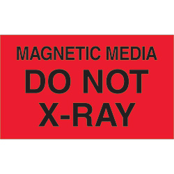 "3"" x 5"" - ""Magnetic Media Do Not X-Ray"" Labels"