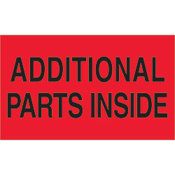 "3"" x 5"" - ""Additional Parts Inside"" Labels"