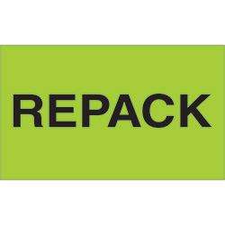 "3"" x 5"" - ""Repack"" Labels"