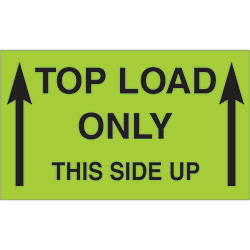 "3"" x 5"" - ""Top Load Only - This Side Up"" Labels"