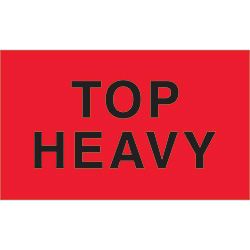"3"" x 5"" - ""Top Heavy"" Labels"