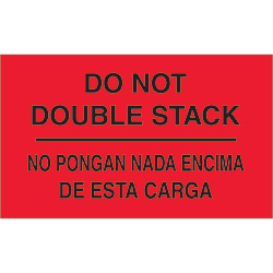 "3"" x 5"" - ""Do Not Double Stack"" Labels Bilingual"