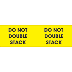 "3"" x 10"" - ""Do Not Double Stack"" Labels"