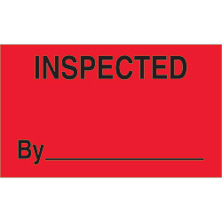 "3"" x 5"" - ""Inspected By"" Labels"