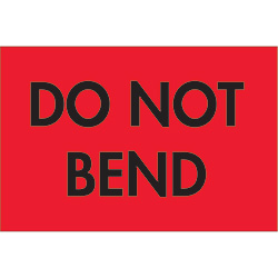 "2"" x 3"" - ""Do Not Bend"" Labels"