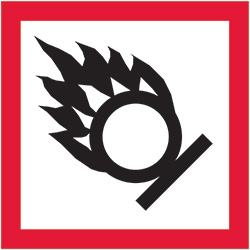"2"" x 2"" Pictogram - Flame Over Circle Labels"