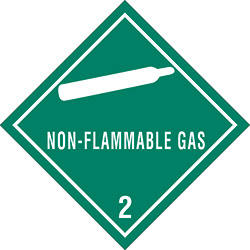 "4"" x 4"" - ""Non-Flammable Gas - 2"" Labels"