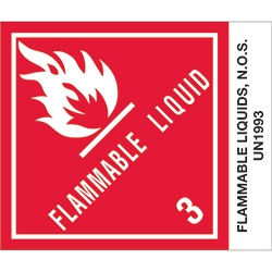 "4"" x 4 3/4"" - ""Flammable Liquids, N.O.S."" Labels"