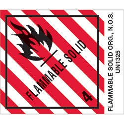 "4"" x 4 3/4"" - ""Flammable Solids, N.O.S."" Labels"