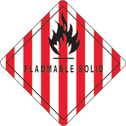 "4"" x 4"" - ""Flammable Solid"" Labels"