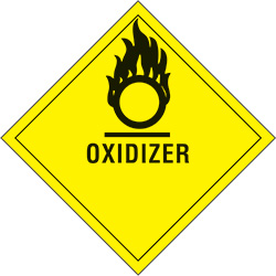 "4"" x 4"" - ""Oxidizer"" Labels"