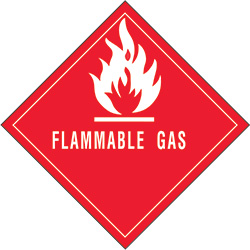 "4"" x 4"" - ""Flammable Gas"" Labels"